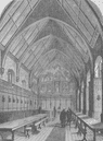 THE TEMPLE CHURCH. The old Hall of the inner Temple. London c1880 print